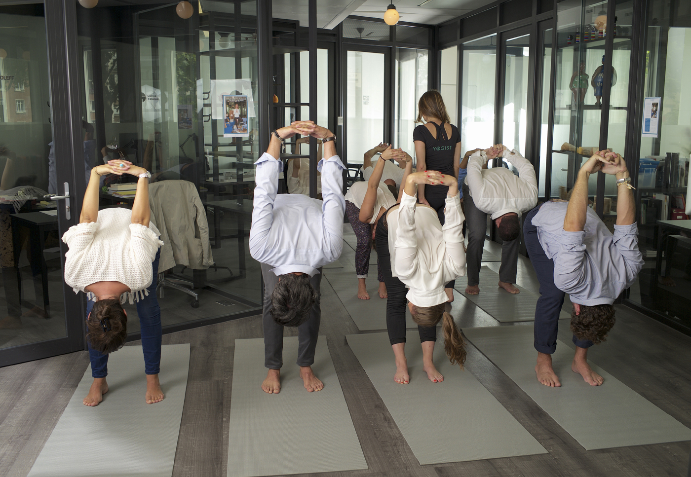 Yogist - Yoga en entreprise sur tapis