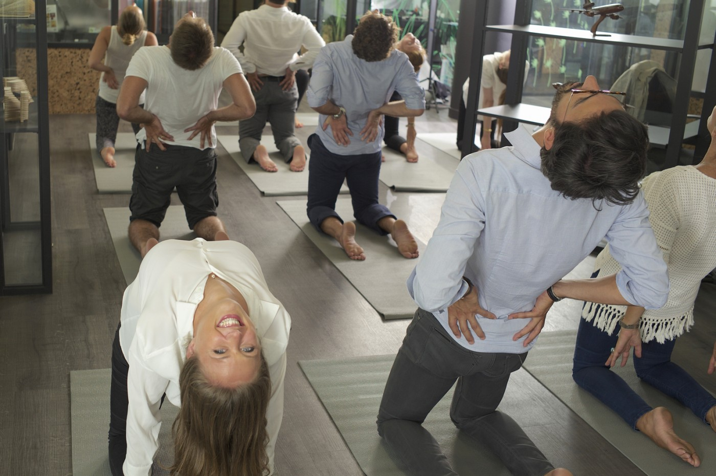 Yogist, yoga sur tapis - corporate