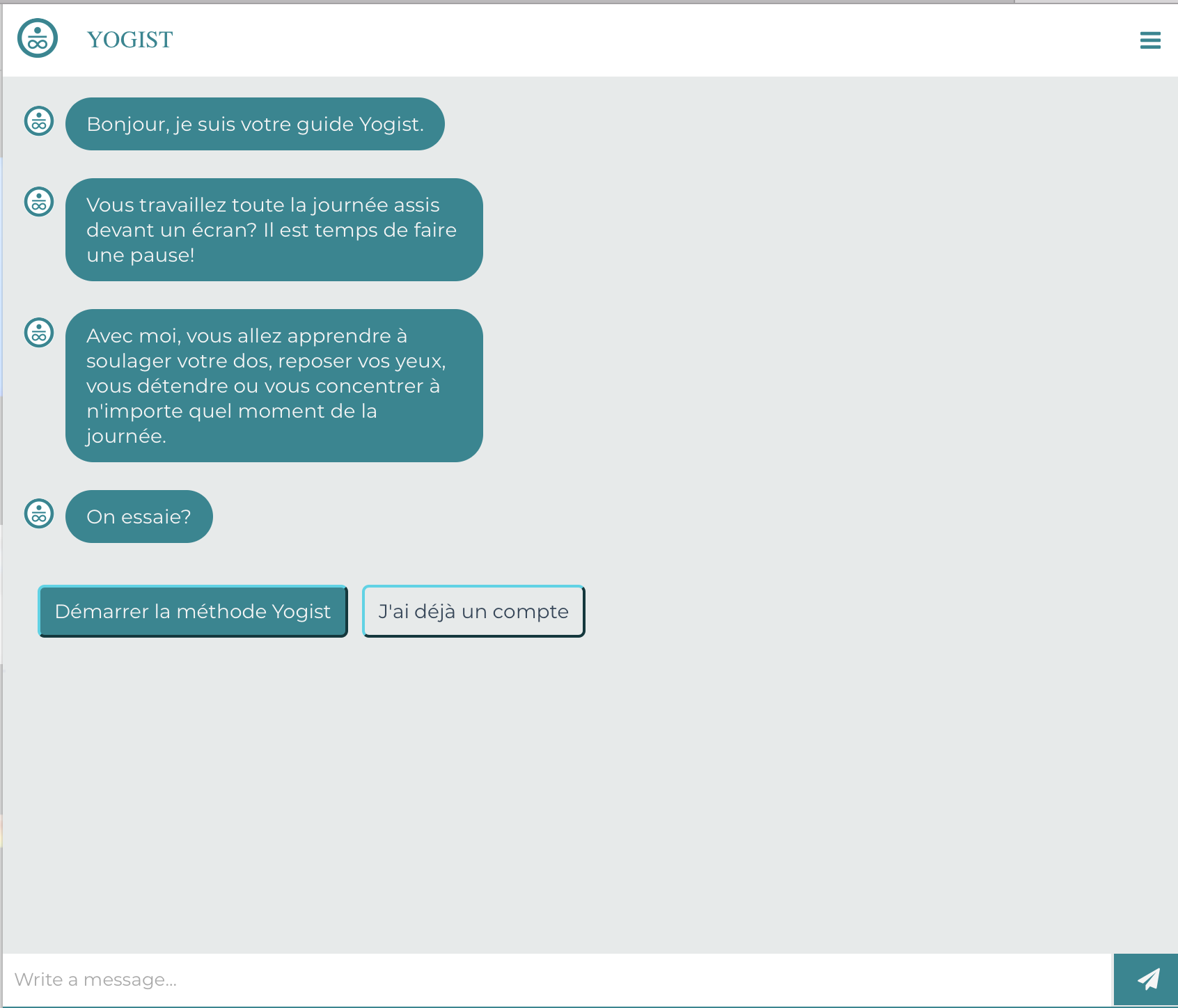 chatbot yogist