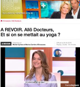 Anne-Charlotte Vuccino dans Allo Docteurs sur France 5