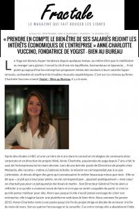 Témoignage de la fondatrice de YOGIST - Bien Au Bureau dans Fractale Magazine